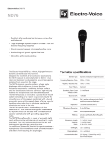 Technical specifications - Electro