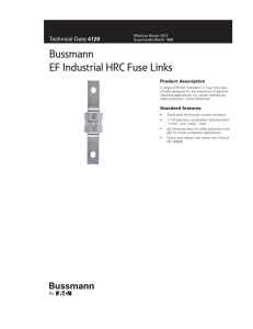 Bussmann EF Industrial HRC Fuse Links
