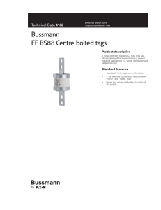 Bussmann FF BS88 Centre bolted tags