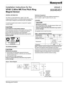 VF401 Sensor - Honeywell Sensing and Control