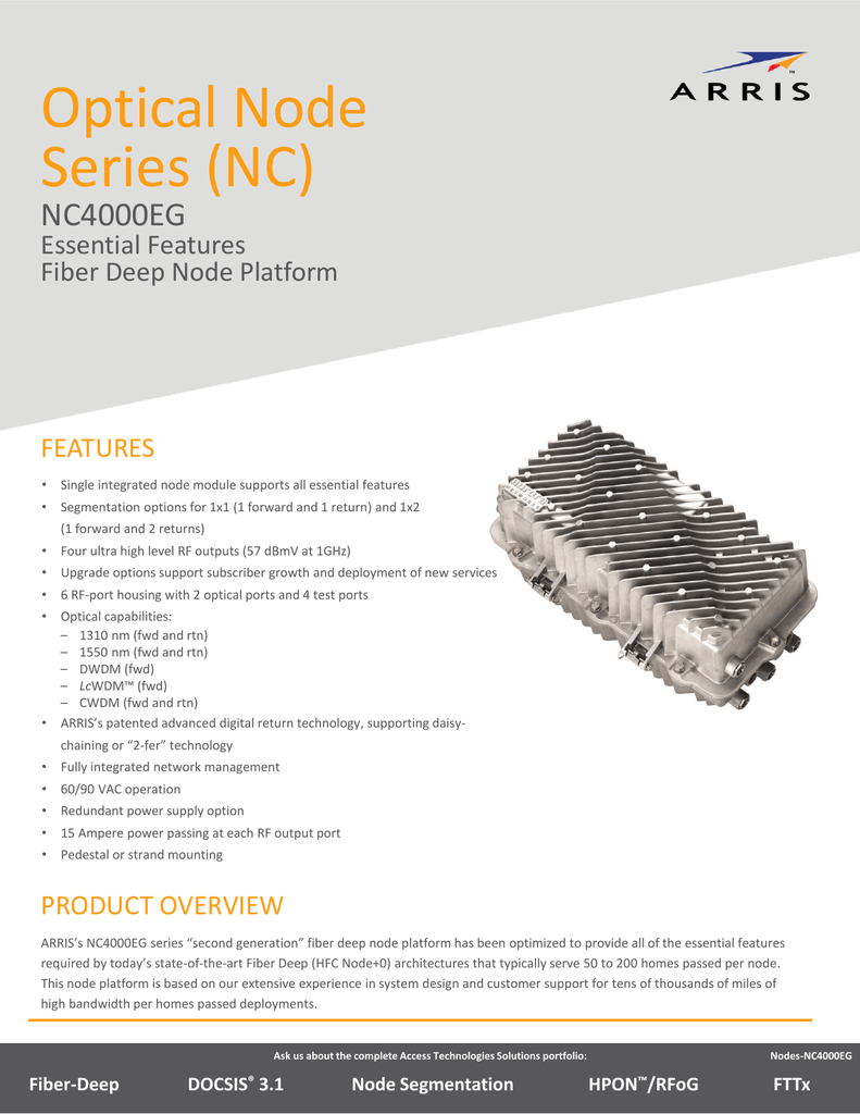 Pdf Nc4000eg Essential Features Fiber Deep Node