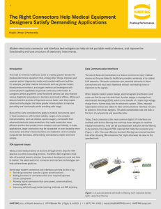 Medical White Paper March 2016 - HARTING