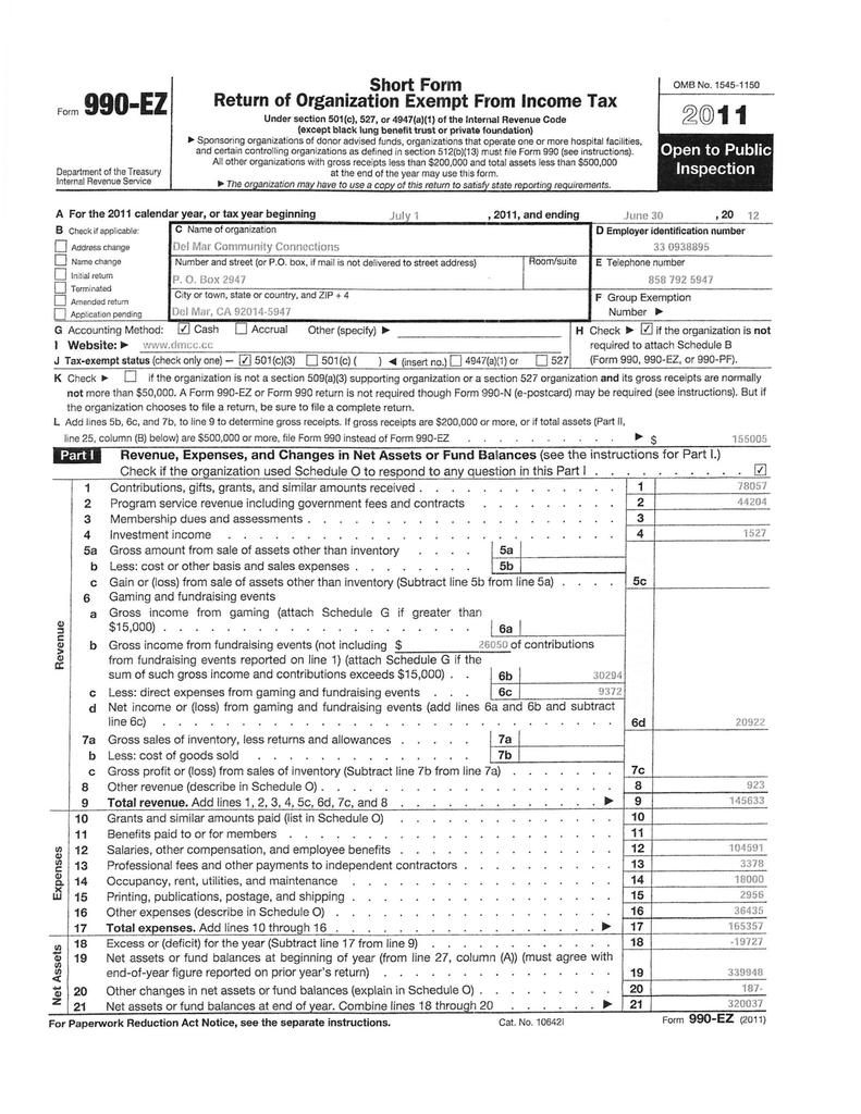 DMCC 2011-12 TX Ret as filed
