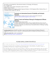 Stochastics An International Journal of Probability and