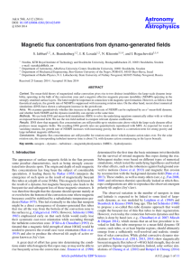 Magnetic flux concentrations from dynamo