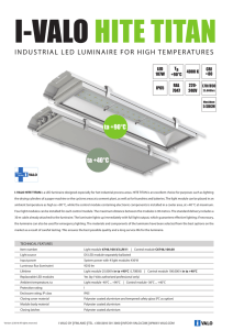 INDUSTRIAL LED LUMINAIRE FOR HIGH TEMPERATURES - I-Valo