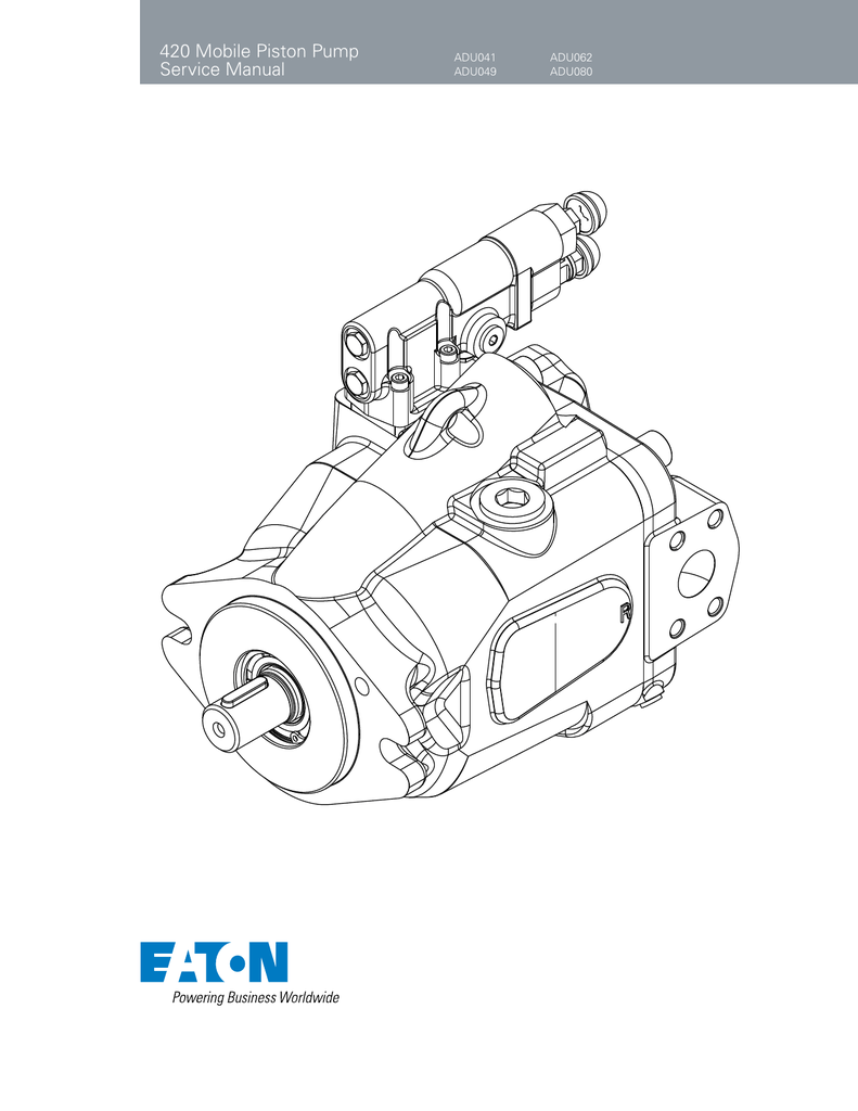 420 Mobile Piston Pump Service Manual