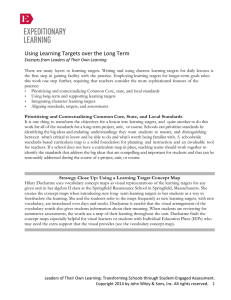 Using Learning Targets