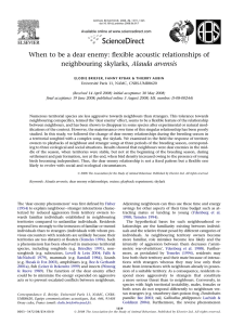 When to be a dear enemy: flexible acoustic relationships of