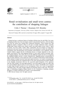 Retail revitalization and small town centres: the contribution of