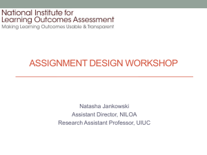 assignment design workshop - National Institute for Learning