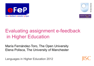 Evaluating assignment e-feedback in Higher Education