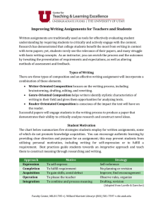 Improving Writing Assignments for Teachers and Students
