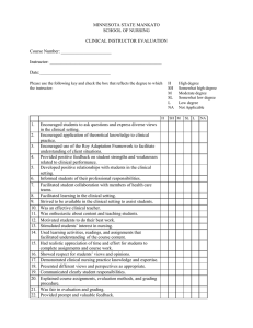 Clinical Instructor Evaluation Tool
