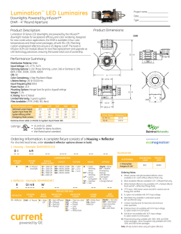 Spec Sheet - GE Lighting