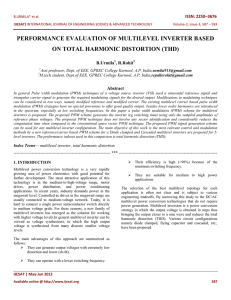 performance evaluation of multilevel inverter based on total