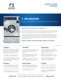 t-300 washer - dexter laundry