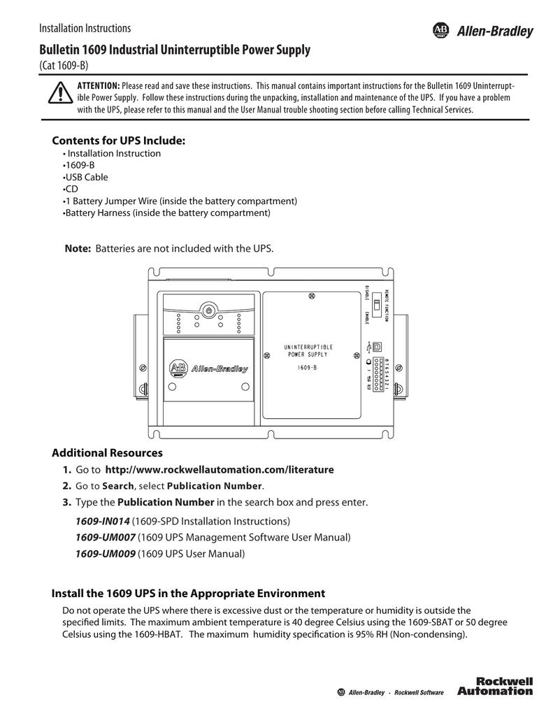 Bul 1609 Industrial Uninterruptible Power Supply Ups Basic Circuit Diagram