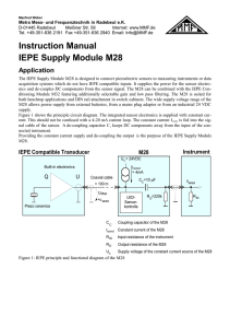 Instruction Manual IEPE Supply Module M28 - Metra Meß