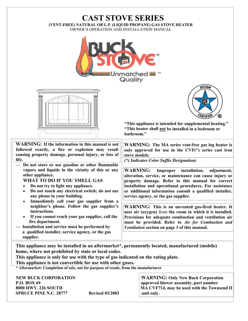 Cast Stove Series Buck Thermostat Wiring Diagram