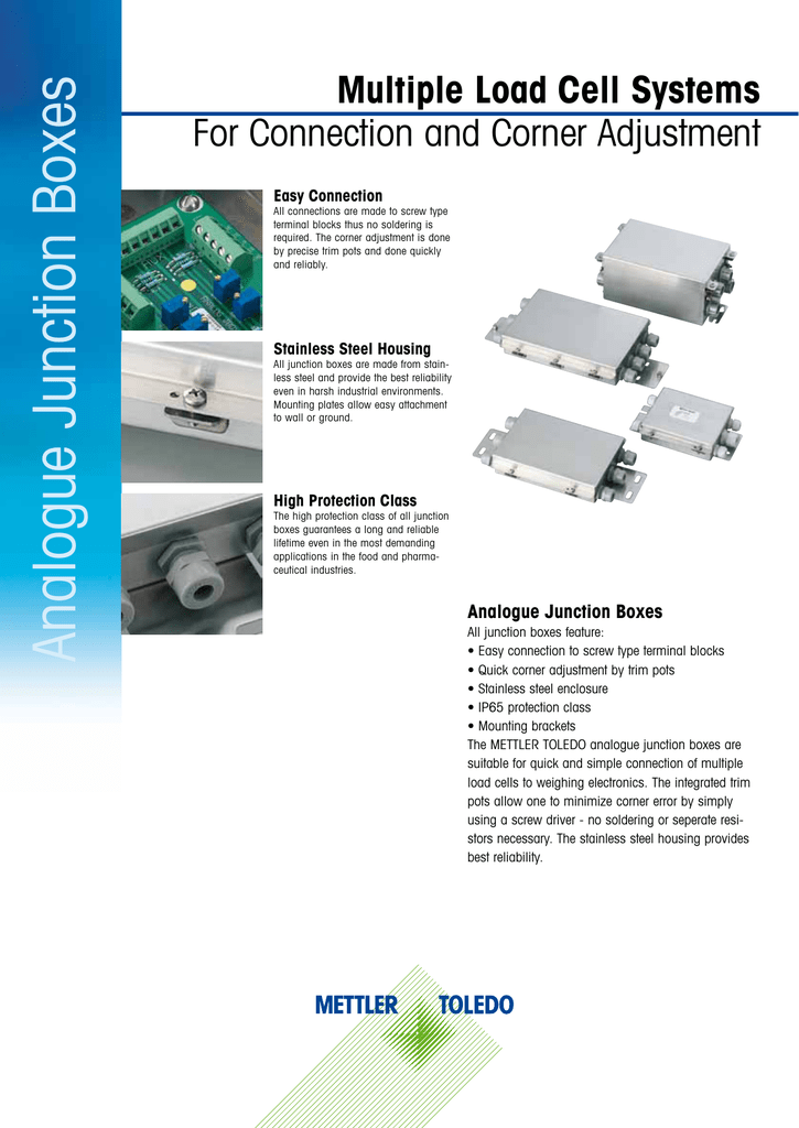 High realiability Load cell junction box