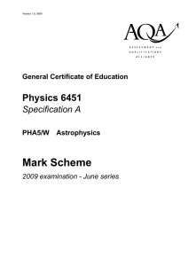 Mark Scheme - the Antonine Education Website