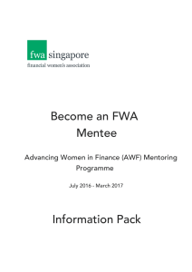 Become an FWA Mentee Information Pack