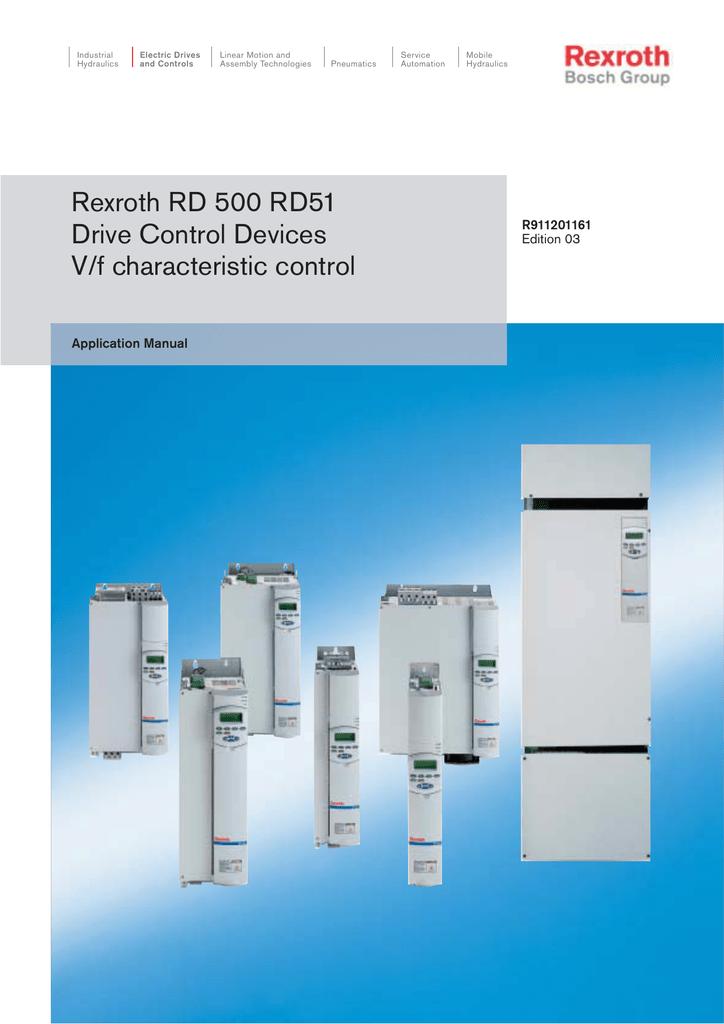 4b8a68e0a Rexroth RD 500 RD51 Drive Control Devices V/f characteristic control
