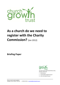As a church do we need to register with the Charity Commission