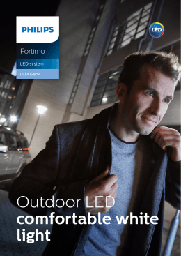 Outdoor LED comfortable white light