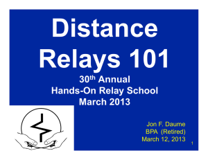 Distance Relays 101