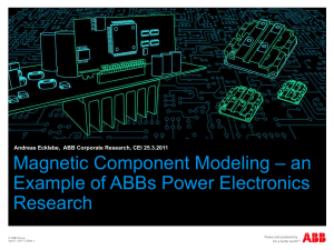 Magnetic Component Modeling – an Example of ABBs Power