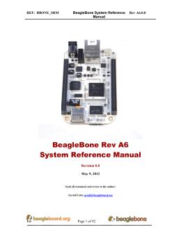 Beaglebone system reference manual