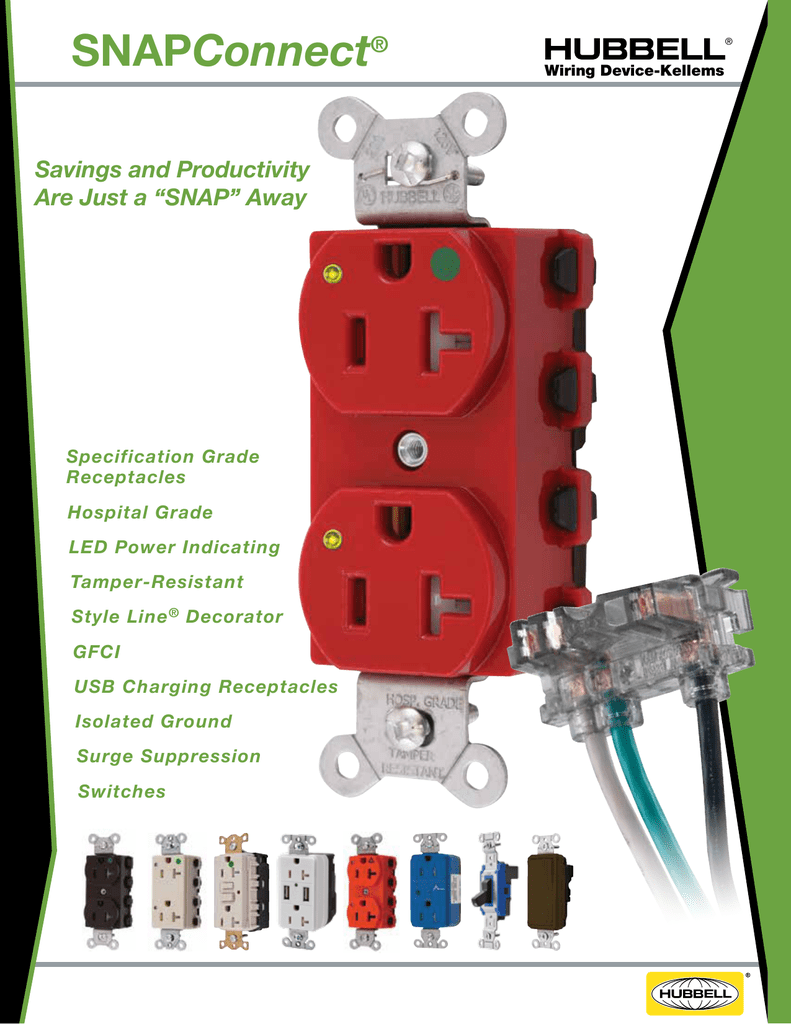 SNAPConnect Receptacles Hubbell Wiring Device – Isolated Ground Receptacle Wiring