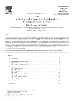 Improving quality inspection of food products by computer vision––a