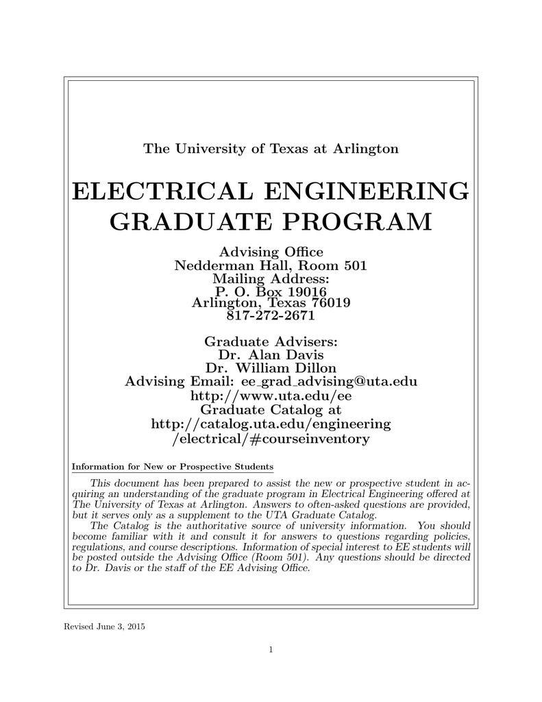 electrical engineering graduate program