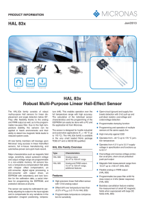 HAL 83x HAL 83x Robust Multi-Purpose Linear Hall