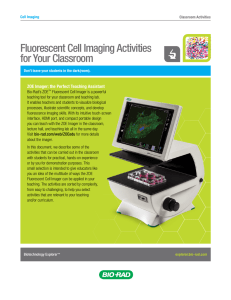Fluorescent Cell Imaging Activities for Your Classroom - Bio-Rad