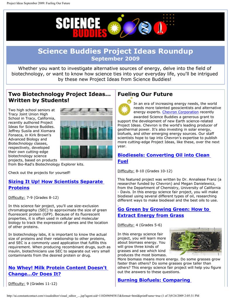 September 2009 - Science Buddies