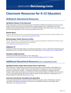 Classroom Resources for K-12 Educators