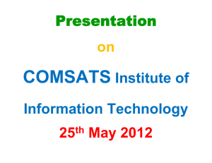 Presentation on COMSATS Institute of Information Technology 25
