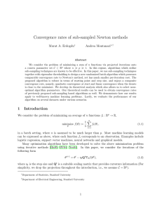 Convergence rates of sub-sampled Newton methods