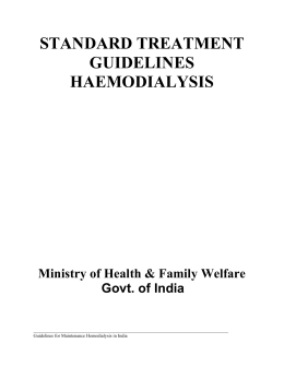 standard treatment guidelines haemodialysis