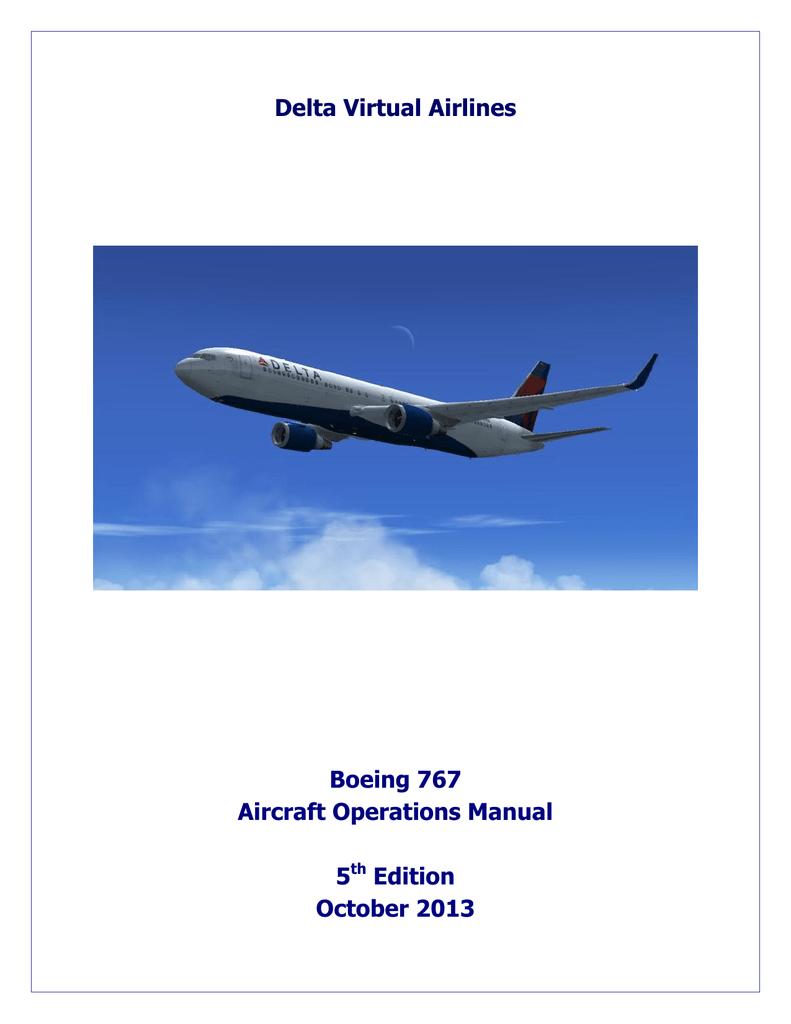 delta virtual airlines boeing 767 aircraft operations rh studylib net