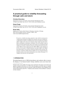 A practical guide to volatility forecasting through calm and storm