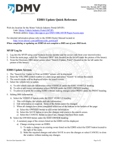 EDRS Update Quick Reference