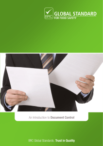 Document Control - BRC Global Standards