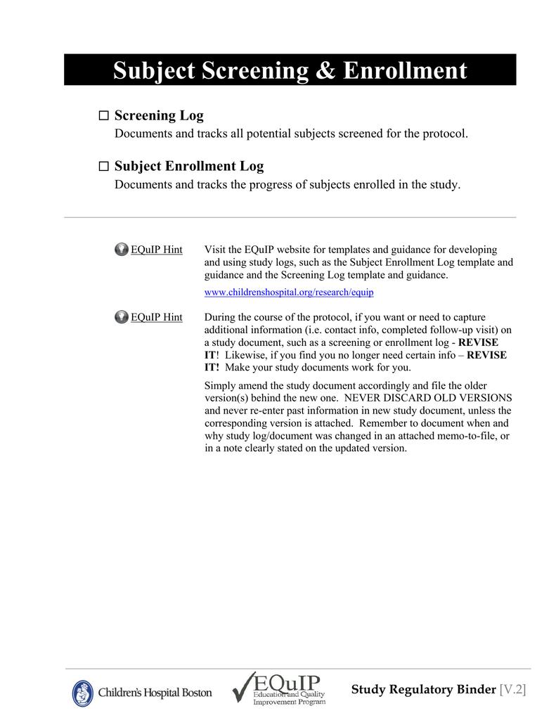 regulatory binder