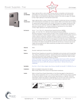 Spec Sheet 13 - Tegan Lighting