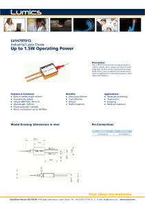 Up to 1.5W Operating Power